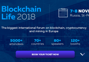 Blockchain Life 2018, 7-8th of November in Saint-Petersburg