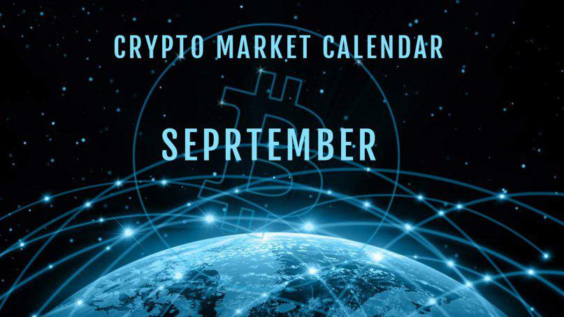 Crypto market calendar for September