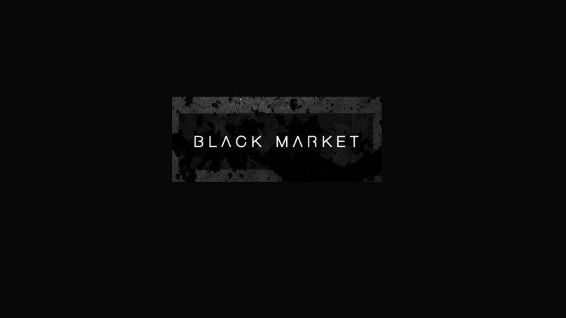 What is a black market in economics?
